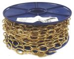 2.3mm Polished Brass Oval Chain - 10m reel