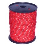 5mm Red Cord with Reflective Strip - sold by the metre