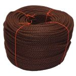8mm Brown PolyCotton Rope - 220m coil