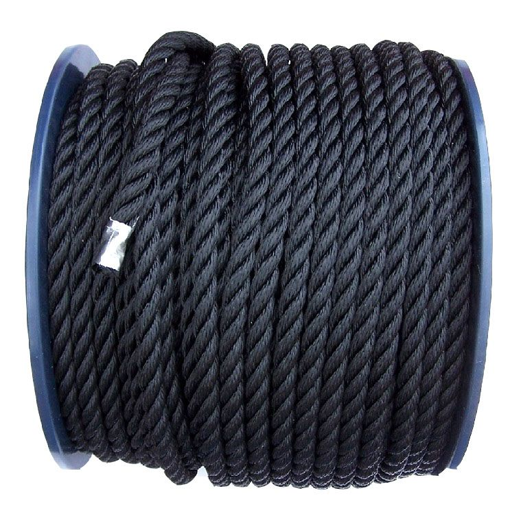 Black Polyester Rope