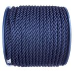 8mm Navy Blue Polyester Rope - 100m reel