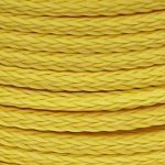 10mm Yellow Hollow Braid Polyethylene sold by the metre